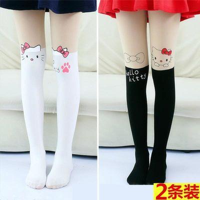 【新款】2双装春秋女童打底袜裤长筒儿童连裤袜夏季薄款丝袜子小