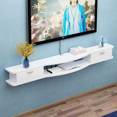 现代简易家具电视柜壁挂客厅卧室机顶盒置物架小户型挂墙吊柜壁柜