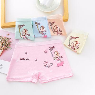 2-14岁五条装女童内裤纯棉平角裤莫代尔儿童中童大童小女孩四角裤