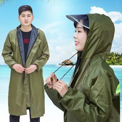 70314/时尚男女长款雨衣防水成人徒步旅行单人连体户外加厚劳保风衣雨披