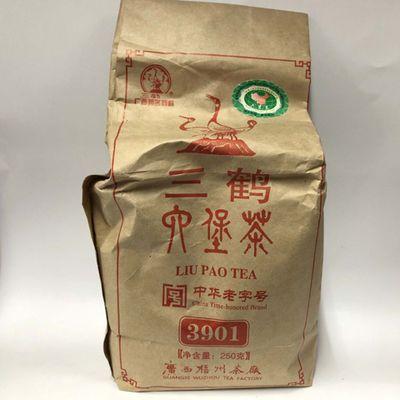 2012年三鹤六堡茶 3901六堡茶 梧州茶厂 250克 袋 2014年分装