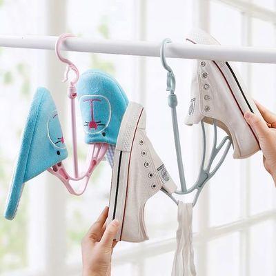 阳台窗台挂架晒鞋架神器小型折叠晾鞋架晾衣架室内挂栏杆凉鞋架