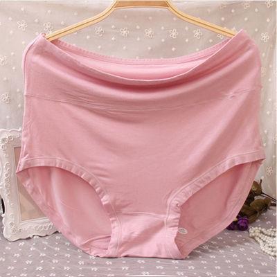 2-4条240斤莫代尔胖妹女妈妈高腰内裤中年老年人胖mm裤衩三角裤