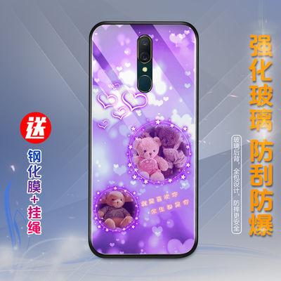 oppoa9手机壳女a9x保护套网红玻璃f11磨砂防摔社会可爱个性新款潮