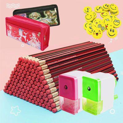 【50/30/10支铅笔套装】小学生红木HB无毒铅笔儿童学习文具用品