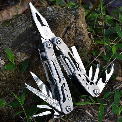 不锈钢多功能钳子户外螺丝刀组合小刀钳折叠便携小巧多用途钳刀具