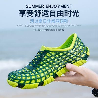 2020夏季新款潮男士凉鞋凉拖鞋外穿洞洞鞋男室外防滑休闲沙滩凉鞋
