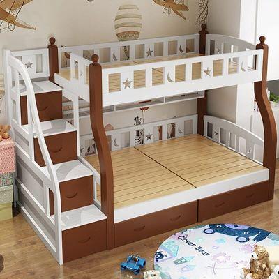 全实木儿童上下床双层床母子成年高低床上下铺木床大人双人子母床