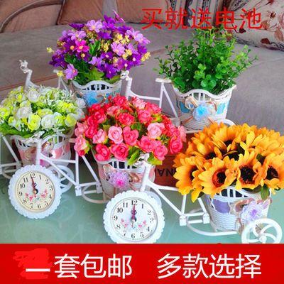 家居饰品装饰仿真花车套装塑料花艺装饰花假花客厅摆放花卉绢花