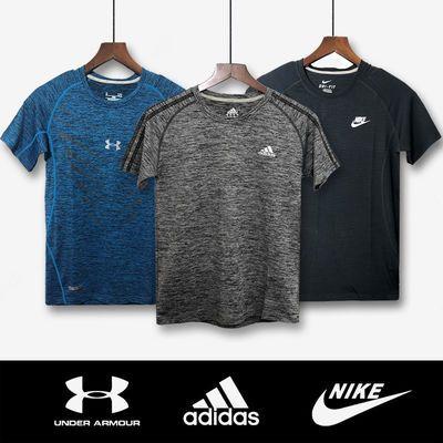 夏季速干衣男短袖运动t恤速干透气薄款冰丝宽松大码跑步健身上衣