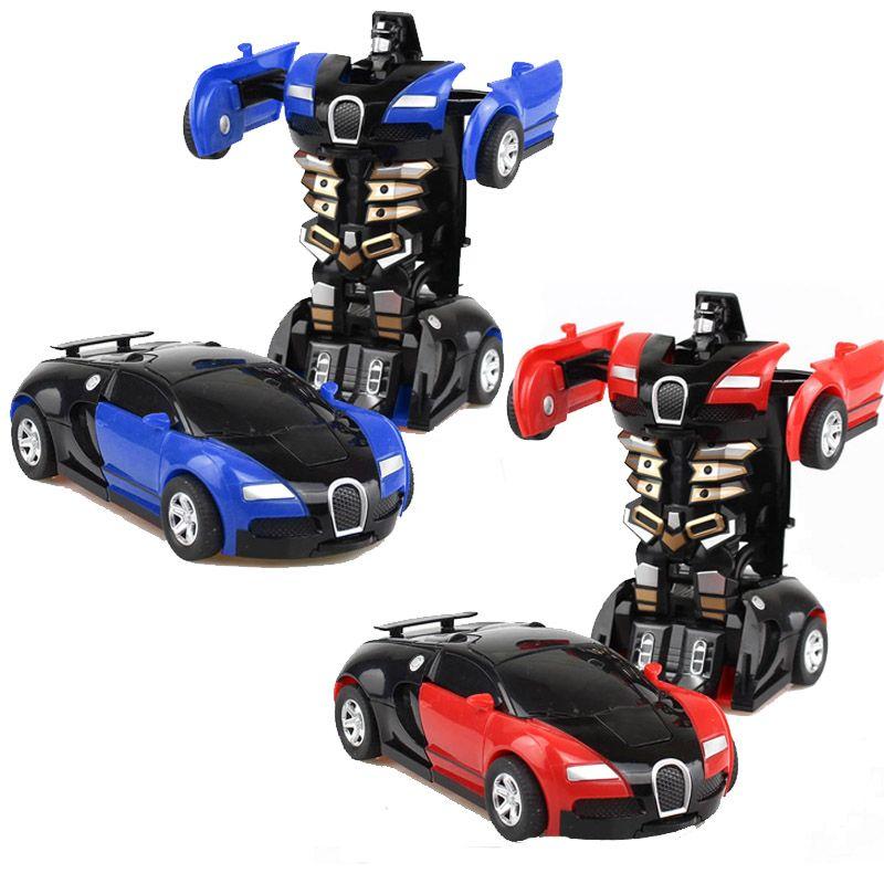 变形金刚玩具车环保无需电池自动变形机器人汽车人模型车小汽车