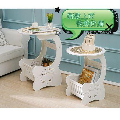 茶几桌子卧室床头柜小桌子欧式小圆桌子客厅沙发边几迷你茶几创意