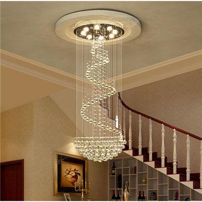 楼梯长吊灯客厅灯大气KTV简约现代别墅大厅餐厅复式楼旋转水晶灯