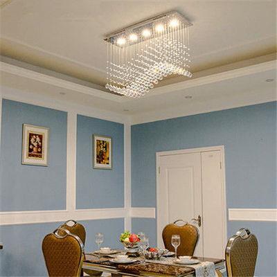 餐厅吊灯长方形北欧简约现代水晶吸顶灯KTV吧台卧室包厢LED灯具