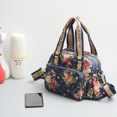 手提包时尚女包包牛津布单肩斜挎包2019新款大容量防水帆布妈妈包