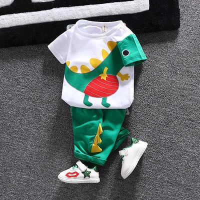 男女童宝宝夏装短袖4套装0-5岁婴儿童装2夏季小孩夏天3衣服两件套