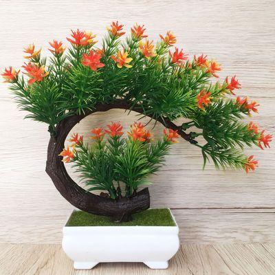 10郁金香仿真花马蹄莲假花套装客厅摆设装饰带花瓶餐桌摆件干花
