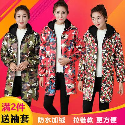 围裙韩版加绒冬长时尚厨房防水防油做饭大人工作家用男罩衣成人女