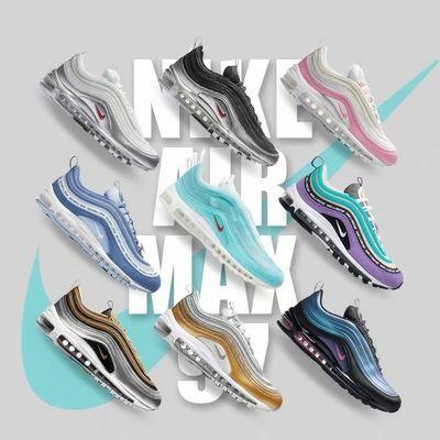 Air Max97南海岸银子弹耶稣联名3M反光运动鞋男女全掌气垫跑步鞋