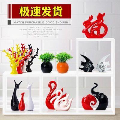 清新性陶瓷植物家居装饰品水培小花瓶容器摆件客厅桌面插花干花