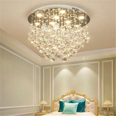 水晶灯led简约现代温馨浪漫创意圆形书房间餐厅客厅主卧室吸顶灯