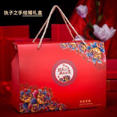 结婚回礼袋婚庆礼品袋红色喜糖袋喜字手提袋大号创意纸袋包装礼盒
