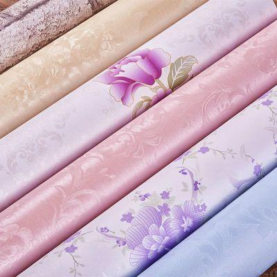 少女心装饰粉色花卧室电视背景墙贴可移除透明膜壁纸墙纸自粘
