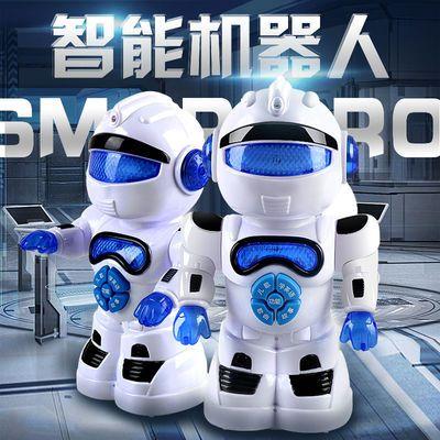 会走路唱歌儿童益智讲故事闪光机器人电动T1智能机器人模型玩具