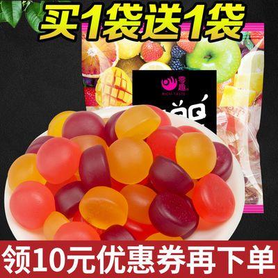 【买一送一】零趣果汁qq糖果有嚼劲的橡皮水果软糖果休闲零食小吃
