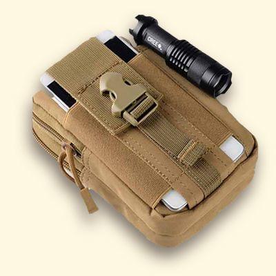 多功能双层穿皮带腰包6.5寸男手机包户外运动包防水跑步挂包