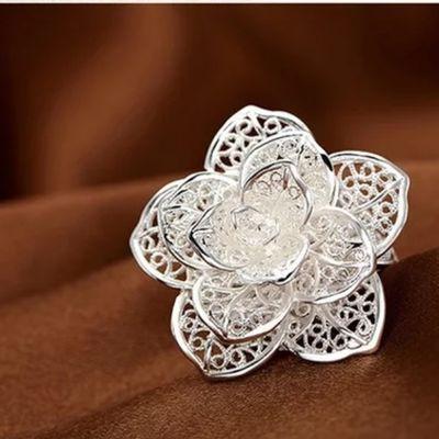 玫瑰花戒指 大花朵 时尚复古