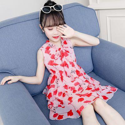 童裝女童旗袍裙2019新款夏裝寶寶公主裙蕾絲兒童連衣裙小女孩裙子