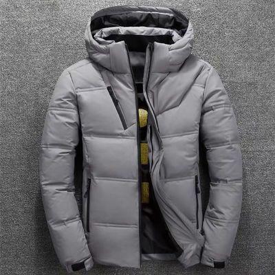 2019新品男士羽绒服短款加厚户外棉衣青年冬装白鸭绒保暖外套清仓