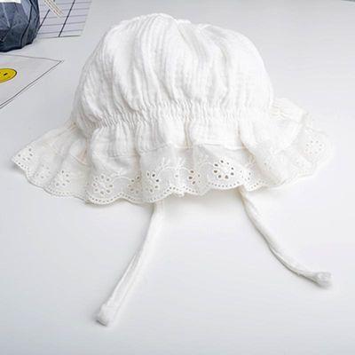 纯棉婴儿帽子0-3-6月2女宝宝公主春秋夏季遮阳幼儿新生儿宫廷帽子