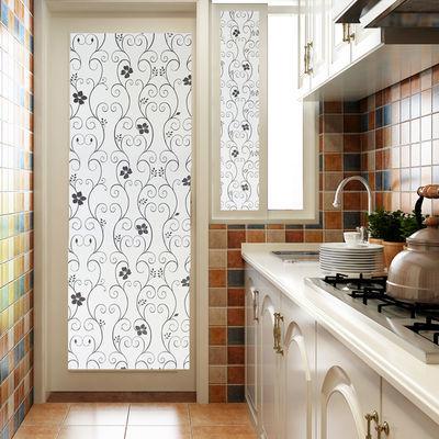 窗户贴纸透光不透明厨房浴室卫生间厕所磨砂玻璃贴纸遮光防晒贴膜