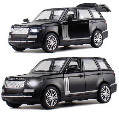 【金属耐摔】合金汽车模型玩具车路虎带声光回力模型小汽车玩具