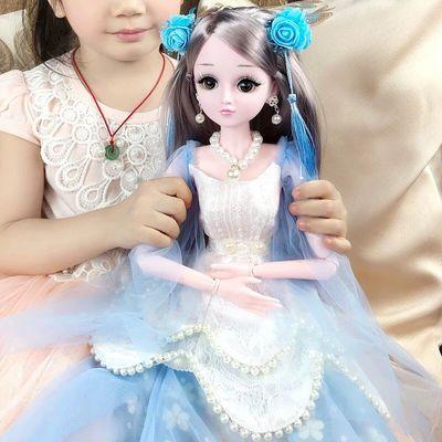 超大60厘米黛蓝芭比娃娃大礼盒套装女孩公主仿真婚纱儿童玩具单个