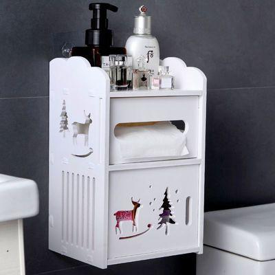 免打孔创意厕纸盒卫生间纸巾盒厕所抽手纸盒防水置物架雕花卷纸筒
