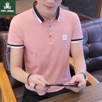 高品质95棉男士立领POLO衫短袖韩版男装T恤上衣潮青年打底衫