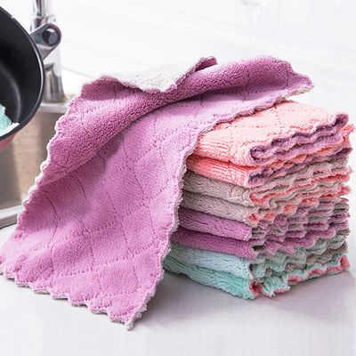 洗碗布不沾油厨房毛巾清洁抹布吸水擦碗布不掉毛擦手巾擦桌百洁布