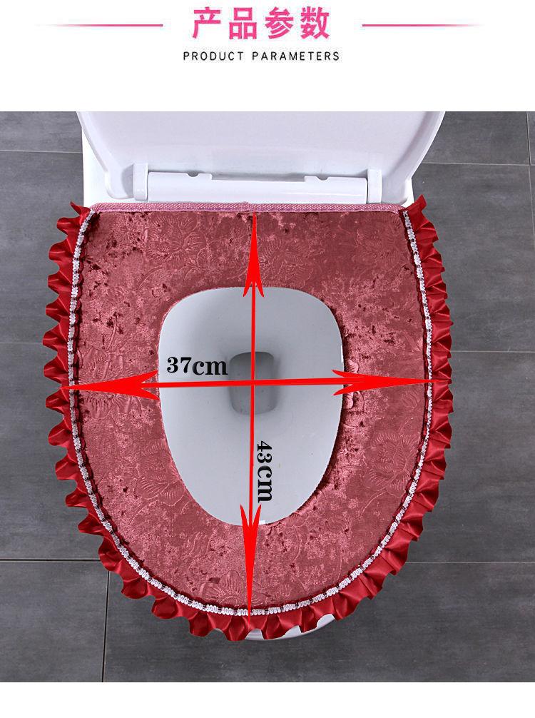 【48小时内发货】马桶垫坐垫马桶圈拉链式粘贴家用可水洗卡通防水坐便套马桶套通用