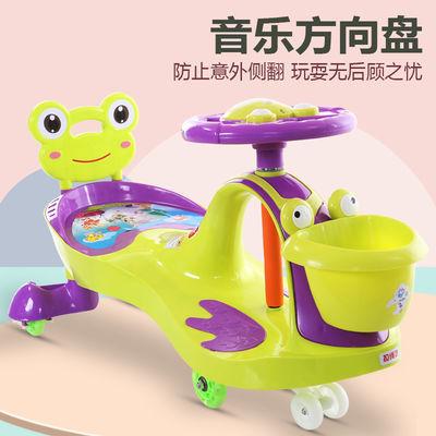 儿童妞妞车摇摆车1到8岁宝宝扭扭车溜溜车带音乐静音轮滑行玩具车
