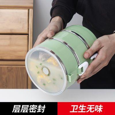(层层密封加盖款)食品级不锈钢保温饭盒学生密封可爱便当盒保温桶
