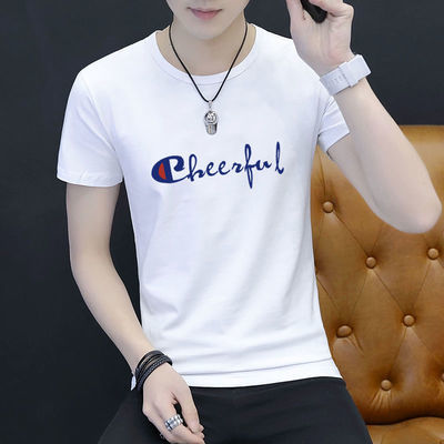 高品质男士短袖polo圆领宽松上衣夏季韩版潮流体恤男装