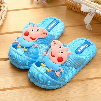 1-8岁儿童拖鞋夏防滑室内宝宝拖鞋软底男童女童可爱浴室小猪拖鞋