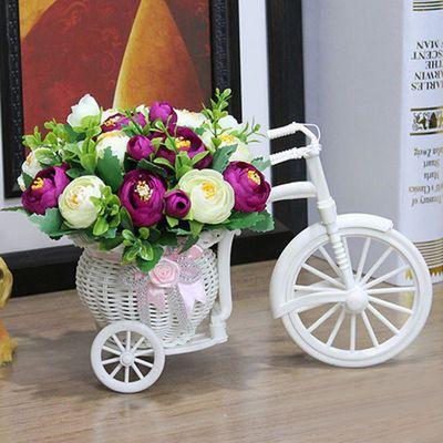 仿真花车套装家居装饰品摆件室内摆设塑料假花插花客厅艺礼物礼品