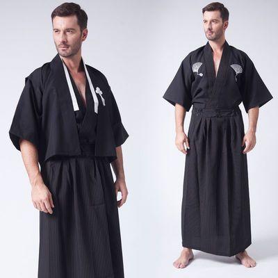 日本和服服装正装和服男士浴衣cos服装武士服和服日本传统武士装