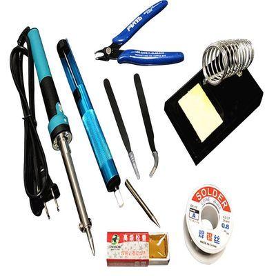 电烙铁焊锡丝套装洛铁套装学生实习焊台电焊笔大功率家用维修工具【3月18日发完】