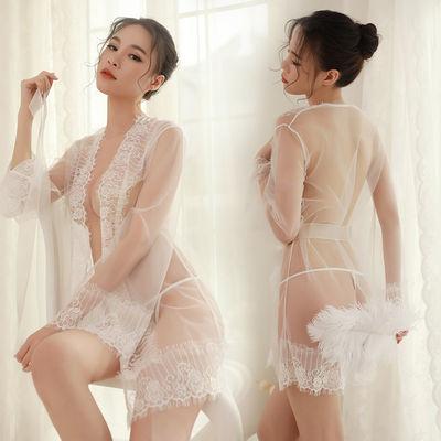 情趣内衣内裤女透视性感激情开档蕾丝制服诱惑睡衣睡袍套装