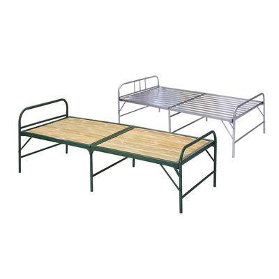 竹板床 办公午休床折叠床 加固竹条床铁床单人双人床行军床木板床
